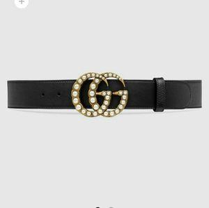 Pearl GG Gucci Belt